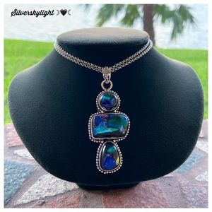 Silverskylight Jewelry - 925 Sterling silver galaxy glass boho necklace